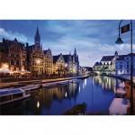 Puzzle  DToys-64301-NL03 Paysages nocturnes - Belgique : Gand