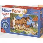 Puzzle  Dtoys-65230-MP-01 La famille de chevaux : pièces en forme de chevaux
