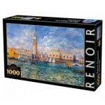 Puzzle  DToys-66909-RE08 Pierre-Auguste Renoir: Le Palais des Doges, Venise