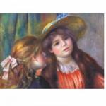 Puzzle  DToys-66909-RE08X Renoir Auguste - Portrait de deux fillettes