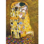 Puzzle  DToys-66923-KL01 Klimt Gustav - Le baiser (détail)