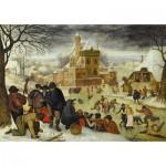 Puzzle  DToys-66947-BR04 Brueghel Pieter le jeune - Hiver