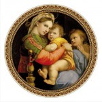 Puzzle  DToys-66985-TM03 Raphael, Raffaello Sanzio : Madonna della Seggiola