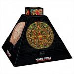 DToys-66992-PP02 Pyramide 3D - Art précolombien : Rosaces aztèques  / Puzzle difficile