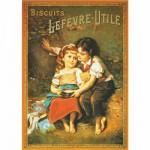Puzzle  DToys-67555-VP03 Poster vintage - Biscuits LU Lefevre-Utile