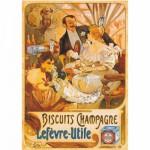 Puzzle  DToys-67555-VP05 Poster Vintage - Biscuits Champagne Lefevre-Utile