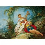 Puzzle  Dtoys-72702-FR-02 Jean-Honoré Fragonard: Happy Lovers