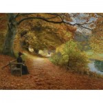 Puzzle  Dtoys-72795-BR-02 Hans Andersen Brendekilde: A Wooded Path in Autumn