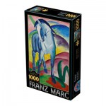 Puzzle  Dtoys-72856-MA-02 Marc Franz : Cheval Bleu