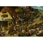 Puzzle  Dtoys-73778-BR01 Brueghel Pieter - Les Proverbes Flamands