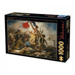 Puzzle  Dtoys-73808-DE01 Delacroix Eugène - La Liberté Guidant le Peuple