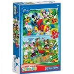Clementoni-07106 2 Puzzles - Mickey Mouse