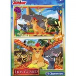 Clementoni-07126 2 Puzzles - The Lion Guard