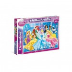 Clementoni-20128 Puzzle Brillant - Princesses Disney
