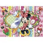 Clementoni-20401 Puzzle 104 pièces : Minnie sera la plus belle