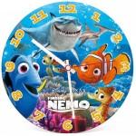 Clementoni-23022 Puzzle Horloge Fluorescent - Némo et Dory