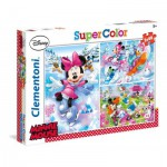 Clementoni-25198 3 Puzzles - Minnie