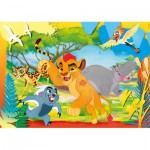Puzzle  Clementoni-26584 Pièces XXL - The Lion Guard