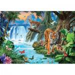 Puzzle  Clementoni-31636 Famille de Tigres