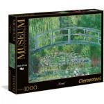 Puzzle  Clementoni-39266 Claude Monet : Le Bassin aux Nymphéas, harmonie verte
