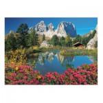 Puzzle  Clementoni-39273 Passo Pordoi, Dolomites, Italie