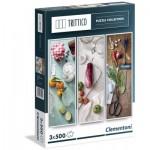 Clementoni-39308 3 Puzzles - Cuisine Méditerranéenne