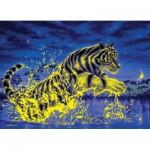 Clementoni-39354 Puzzle Fluorescent - Tigre