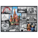 Puzzle  Trefl-10380 Collage - Moscou