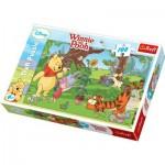 Puzzle  Trefl-16185 Winnie l'ourson jardine avec ses amis