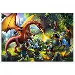 Puzzle  Trefl-16281 Rencontre avec le Dragon