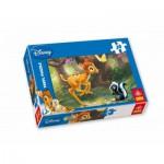 Puzzle  Trefl-18132 Fleur et Bambi