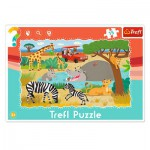 Trefl-31217 Puzzle Cadre - Safari