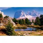 Puzzle  Trefl-33012 Petit lac aux Dolomites