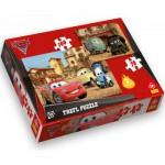 Trefl-34069 2 Puzzles Cars