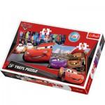 Trefl-34102 2 Puzzles en 1 : Cars et ses fans