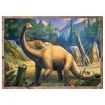 Trefl-34249 4 Puzzles - Dinosaures