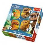 Trefl-34250 4 Puzzles - The Good Dinosaur