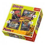 Trefl-34257 4 Puzzles - Scooby-Doo