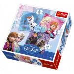 Trefl-34810 3 Puzzles - La Reine des Neiges