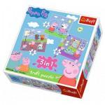 Trefl-34813 3 Puzzles - Peppa Pig