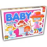Trefl-36033 4 mini Puzzles forme : Les métiers