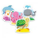 Trefl-36055 Puzzle Baby Classic : Animaux Marins