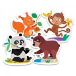 Trefl-36056 Puzzle Baby Classic : Animaux de la Forêt
