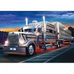 Puzzle  Trefl-37121 Camion argent