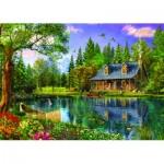 Puzzle  Trefl-45005 Après-Midi Idyllique dans le Cottage au Bord de l'Etang