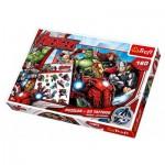 Trefl-90501 Puzzle Avengers + 20 Tatouages