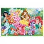 Trefl-90502 Puzzle + 20 Tatoos : Princesses Disney