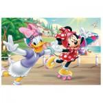 Trefl-90504 Puzzle + 20 Tatoos : Minnie Mouse