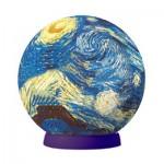 Pintoo-A2619 Puzzle Sphère en Plastique - Van Gogh Vincent : Nuit étoilée