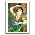 Pintoo-M1087 Puzzle en Plastique - Derjen : Femme dansant